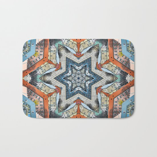 Abstract Geometric Structures Bath Mat