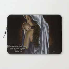 Mary and Jesus by Hailey Scott Laptop Sleeve
