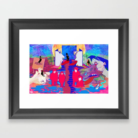 """m b v"" by Steven Fiche Framed Art Print"