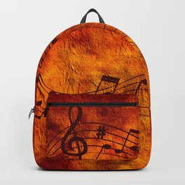 Abstract music 18D Backpack