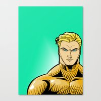 aquaman Canvas Prints featuring Aquaman by J. J.
