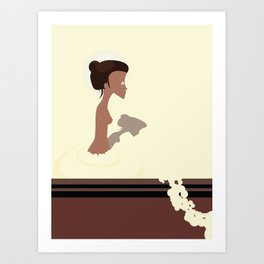 le bain Art Print