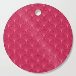 Mermaid Fans: Raspberry Cutting Board