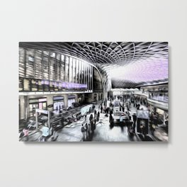Kings Cross Station London Art Metal Print