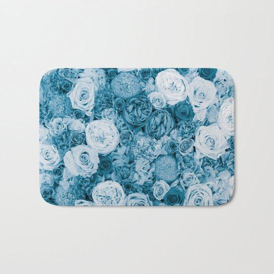 Bouquet ver.bluegreen Bath Mat