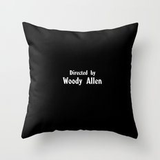 Directed By Woody Allen Throw Pillow