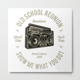 Boombox Retro Metal Print
