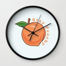 Stay Peachy Wall Clock