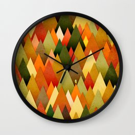 071 – deep into the autumn forest texture II Wall Clock