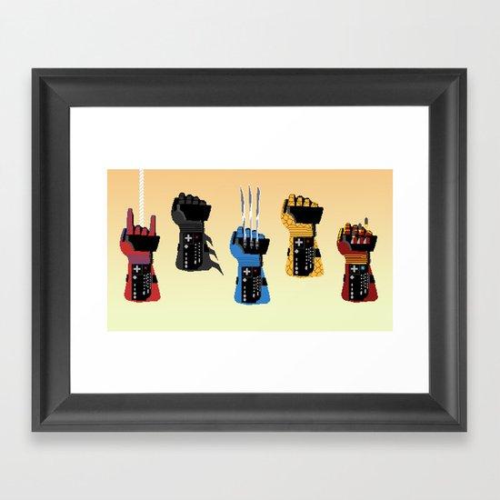 Power Glove Love Framed Art Print
