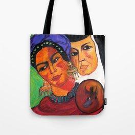Frida y Sor Juana Ines De La Cruz Tote Bag