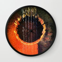 Guitar Extruded - Music Prevails Wall Clock