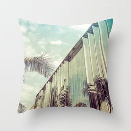 Beverly Hills - Palm Reflections IV Throw Pillow