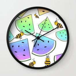Uninvited Picnic Guests Wall Clock
