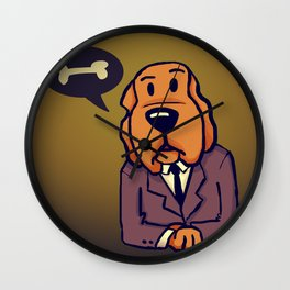 Dog News Wall Clock