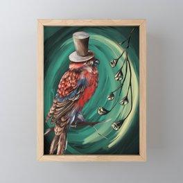 Red fantasy bird  Framed Mini Art Print