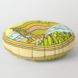 drifting to paradise surf art by surfy birdy Floor Pillow