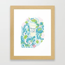 Saturdays are for the Lattes Framed Art Print