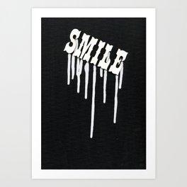 Dripping Smile Art Print