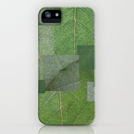 Hojas Verde iPhone Case