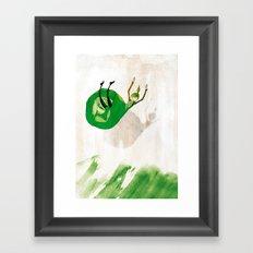 Lettuce Woman Framed Art Print