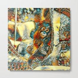 AnimalArt_OrangUtan_20170605_by_JAMColorsSpecial Metal Print