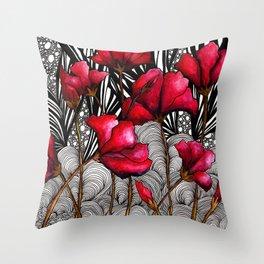 Ruby Rose Pop Throw Pillow