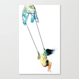 Swing me higher Canvas Print