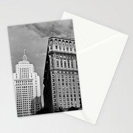Sao Paulo Skyline - Anhangabau in black and white Stationery Cards