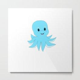 Cute Baby Octopus Metal Print