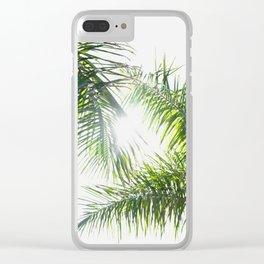 Summer Palm Trees - Modern Minimalist Clear iPhone Case