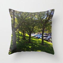 Carpark Trees Throw Pillow