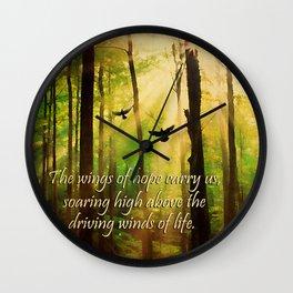 Rays of Hope Wall Clock