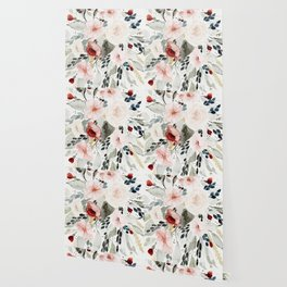 Loose Watercolor Bouquet Wallpaper