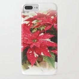 Shimmer Surprise Poinsettias iPhone Case