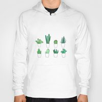 cacti Hoodies featuring Cacti by Aferova