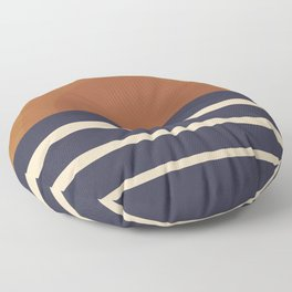 Retro Sunset Floor Pillow