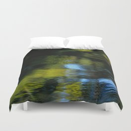 Reflection in Green Duvet Cover