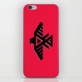Thunderbird, Emblem of the Anishinaabe people - Black on Red iPhone Skin