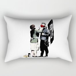 Banksy, Anarchist Punk And His Mother Artwork, Posters, Prints, Bags, Tshirts, Men, Women, Kids Rectangular Pillow