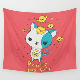 Really Good Kitty Wall Tapestry