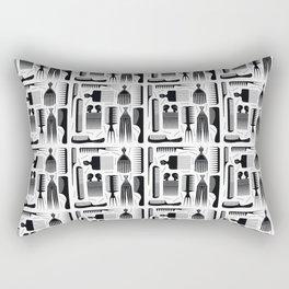 Comb Through Pattern Rectangular Pillow