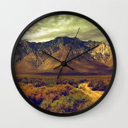 California Postcards Lone Pine Wall Clock