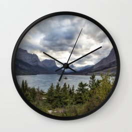 St Mary's Lake and Wild Goose Island Wall Clock