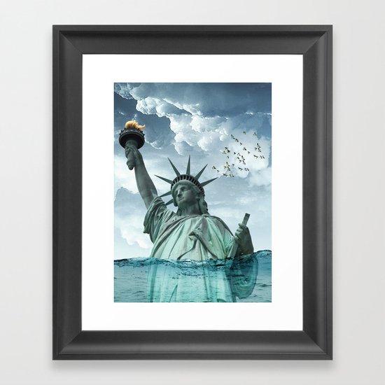 the water line Framed Art Print