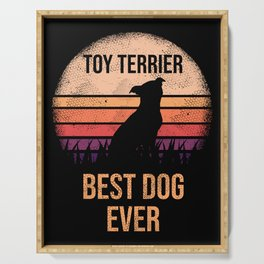 Toy Terrier print For Dog Lovers Cute Dog Serving Tray