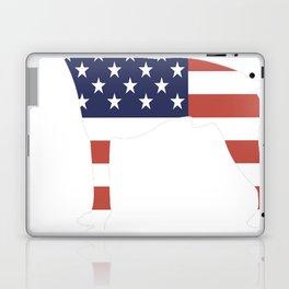 American-Hairless-Terrier-tshirt,-patriotic-American-Hairless-Terrier Laptop & iPad Skin