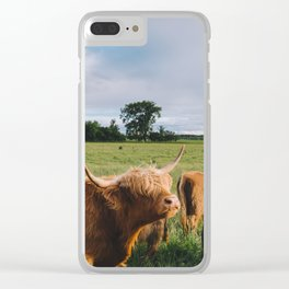 Highland Cows III Clear iPhone Case