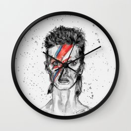 Heroes Inspired in BW Wall Clock