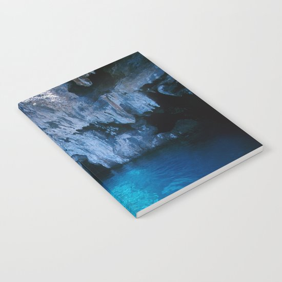 NATURE'S WONDER #5 - BLUE GROTTO (Turkey) #2 #art #society6 Notebook